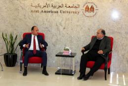 Palestine Embassador to the United States Dr. Hussam Zamlat Visits the University
