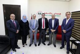 Dr. Ehab Al-Qabaj Visits the University