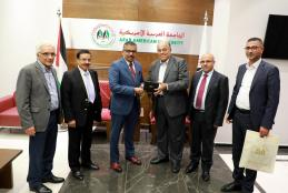 The Representative of the Republic of India to Palestine Anish Rajan Visits the University