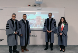 Farah Abdullatif, a student in the Master in Data Sciences and Business Analytics Defends her Thesis