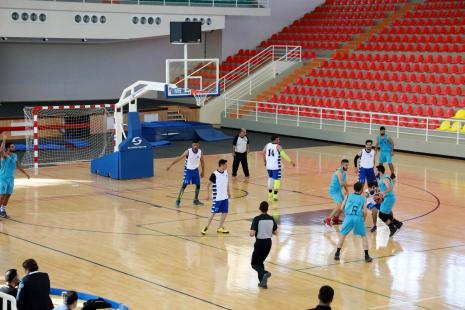 مباراة كرة سلة بين فريق الجامعة وفريق جامعة بيت لحم