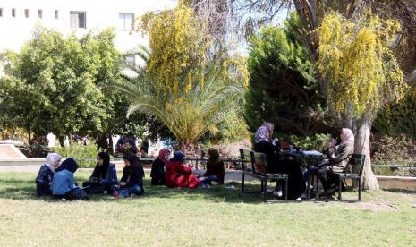 Spring season in the university