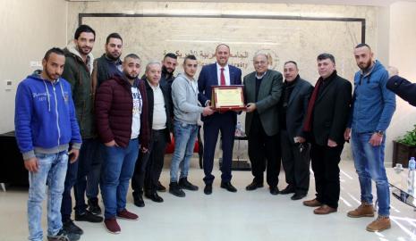 Palestine Embassador to the United States Dr. Hussam Zamlat Visits the University