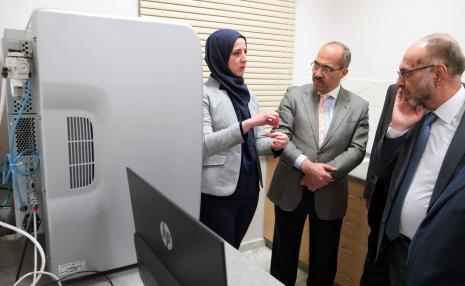 The Secretary General of the Jordanian Medical Council Visits Arab American University Campus in Ramallah