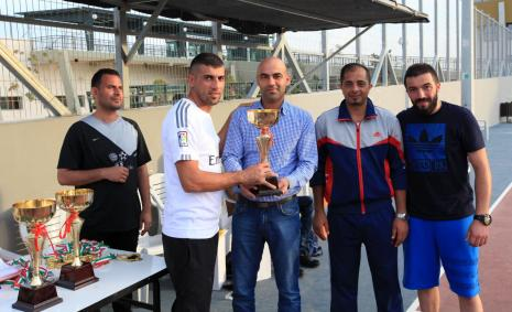 Five-a-side Football Championship of the Palestinian universities staff