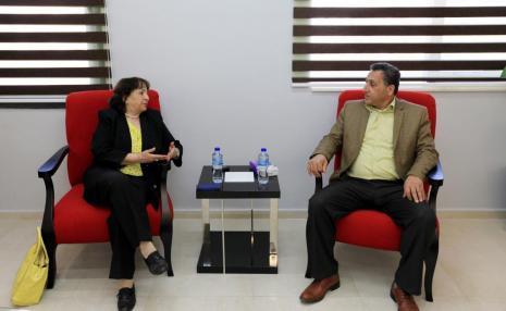 استقبال سفيرة دولة فلسطين في ايطاليا الدكتورة مي كيله