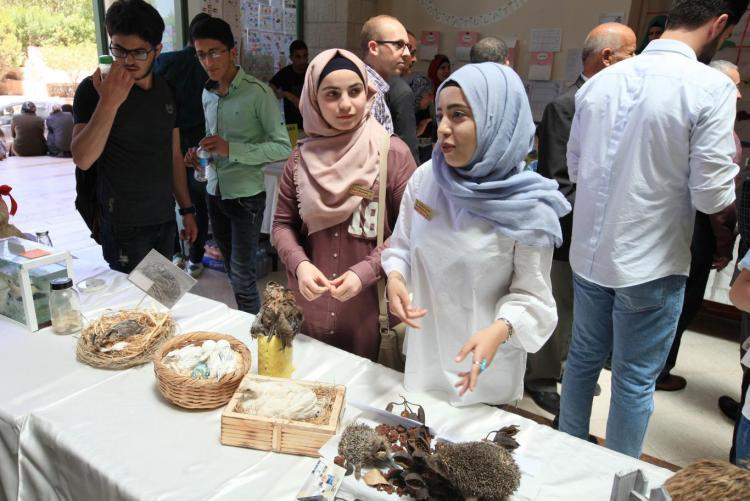 Arab American University Faculty of Science Opens Exhibition for Educational Tools