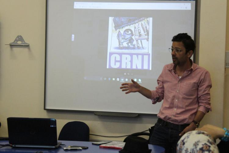The University Organizes a Meeting on the Caricature Art For Arabic And Media Department Students
