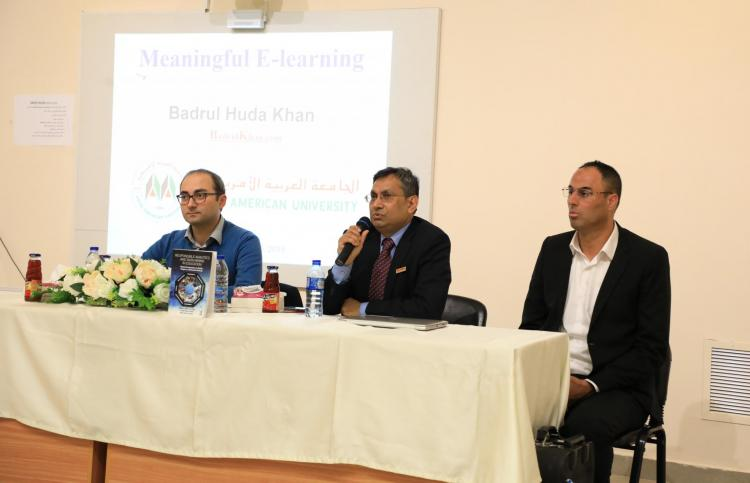 AAUP Hosts the International Expert Bader ALHuda Khan in a Workshop about E-Learning