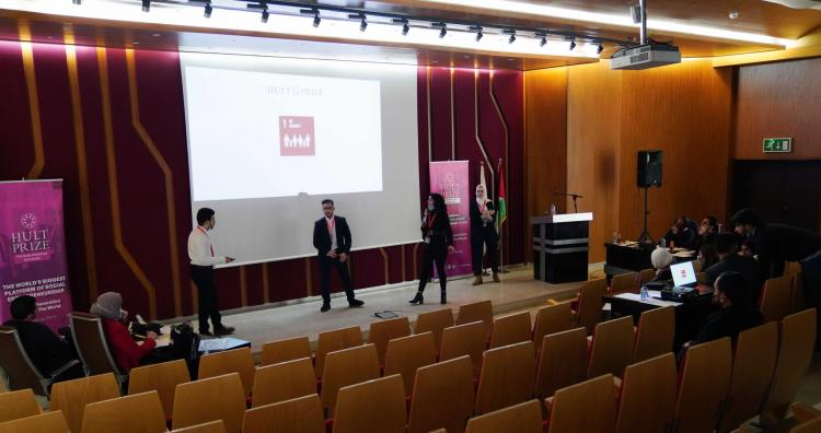 """The """"HULT PRIZE 2021"""" Competition in AAUP"""