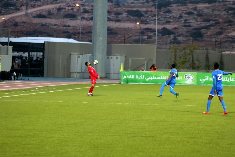 PALESTINE NATIONAL FOOTBALL TEAM AND MALDIVIAN TEAM MATCH AT THE ARAB AMERICAN UNIVERSITY INTERNATIONAL STADIUM