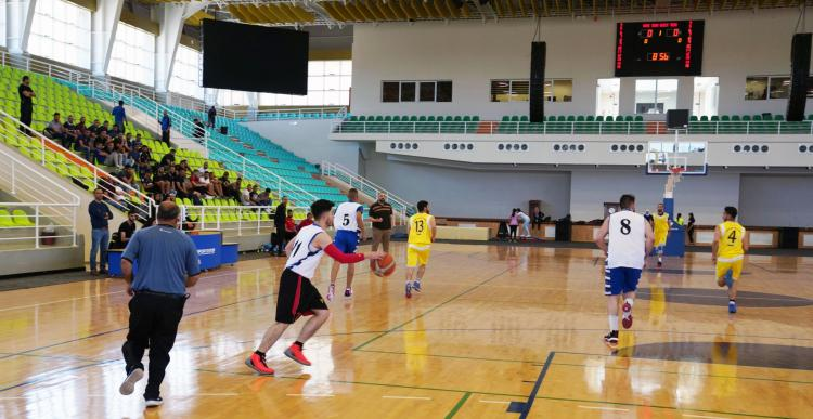A Basketball Match Between Arab America University and Al-Najah University in the Universities League