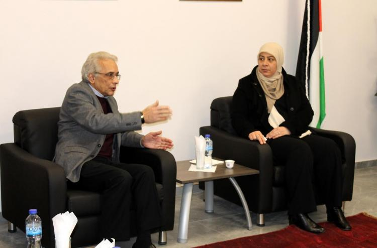 Visit Dr. Laila Ghannam to the University Site in Ramallah