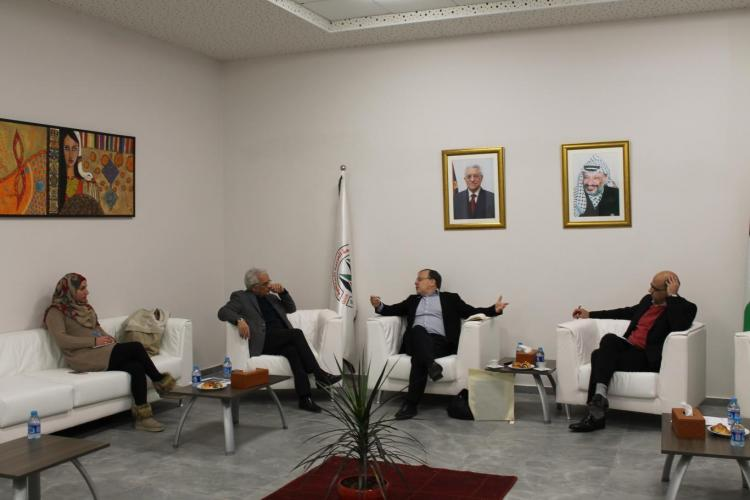 Director of the Geneva Academy of International and Humanitarian Law Visits the University Campus in Ramallah