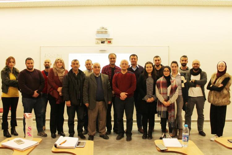 THE FORMER SOUTH AFRICA AMBASSADOR AT THE STATE OF PALESTINE MR. RAFIQE GANGAT VISITS THE UNIVERSITY