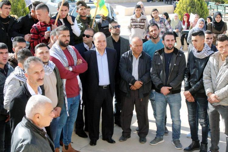 THE MEMBER OF FATEH CENTRAL COMMITTEE NASER AL-QUDWA VISITS THE UNIVERSITY