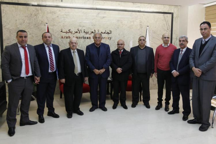 HEAD OF THE AUNTI-CORRUPTION COMMISSION RAFEEQ AL-NATSHEH VISITS THE UNIVERSITY
