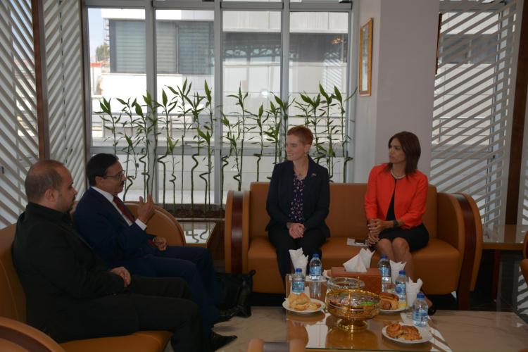 Australian Government Representative in Palestine Marcia Pius visits the University