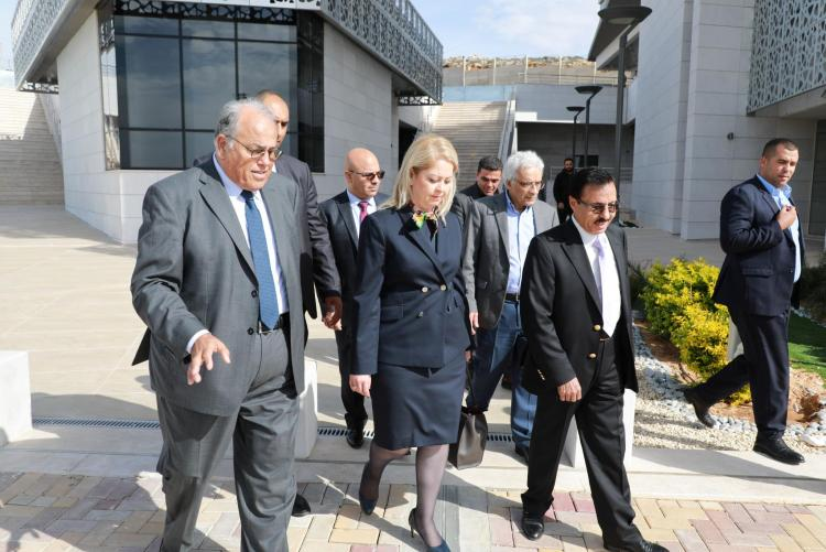 The Adviser to the Prime Minister Dr. Khayriah Rasas Visits the University Ramallah Campus