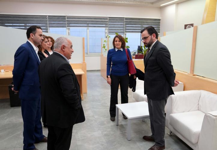 Visit of the Minister of Culture Dr. Ihab Bseisu to the University in Ramallah Campus
