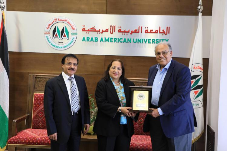 Part of the Visit of the Minister of Health Dr. May Kiyla to the University Campus at Ramallah