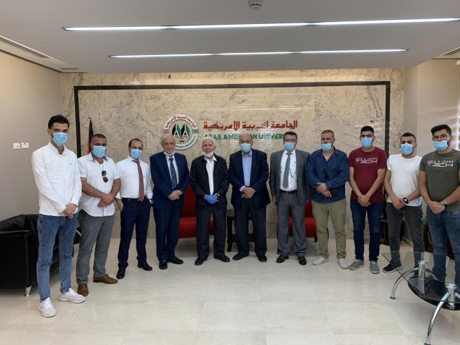 Azzam Al-ahmad- the Member of the Executive Committee of the Palestinian Liberation Organization and Fatah Central Committee Visits Arab American University