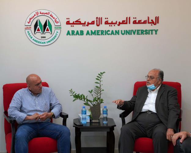 Jenin Governor Visits AAUP to Congratulate on the Accreditation of the Bachelor in Medicine Program