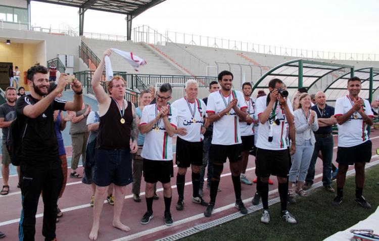 During the British Football Team Visit for Palestine
