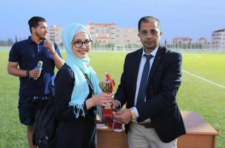 Honoring Winners in Universities Championship in Chess, Tennis and Karate