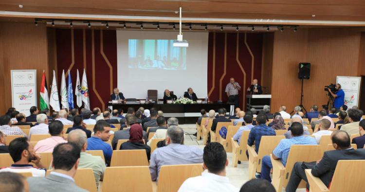ورشة عمل نحو استراتيجية وطنية لتطوير الرياضة الفلسطينية