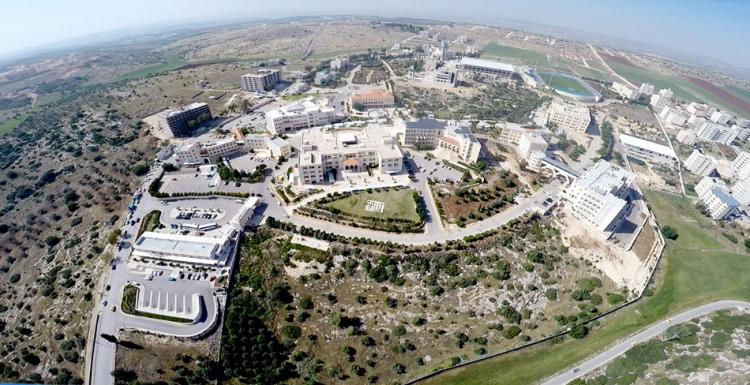 An aerial photograph of the University