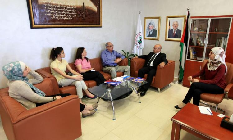 Welcoming a Delegation from the European Chamber of Commerce and German Aramco Company