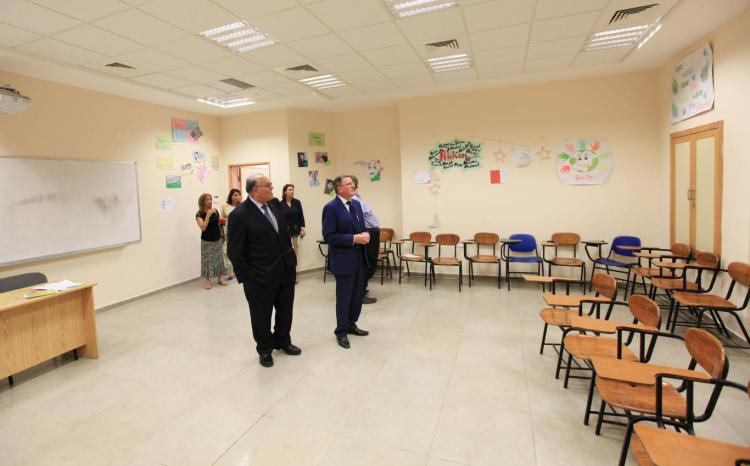 Director of the British Council in Palestine Brendan Mkhari University Visit
