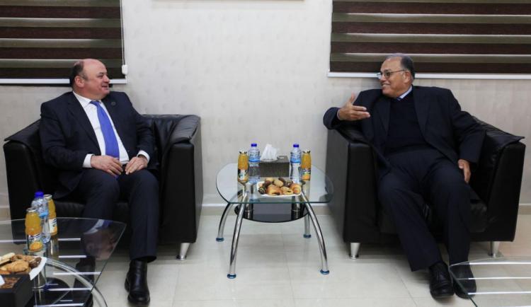 استقبال محافظ سلطة النقد السيد عزام الشوا