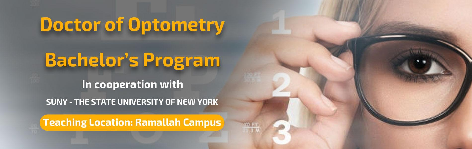 Start of Accepting Applications for Admission for Bachelor's Program in Doctor of Optometry for Spring Semester of Academic Year 2019/2020