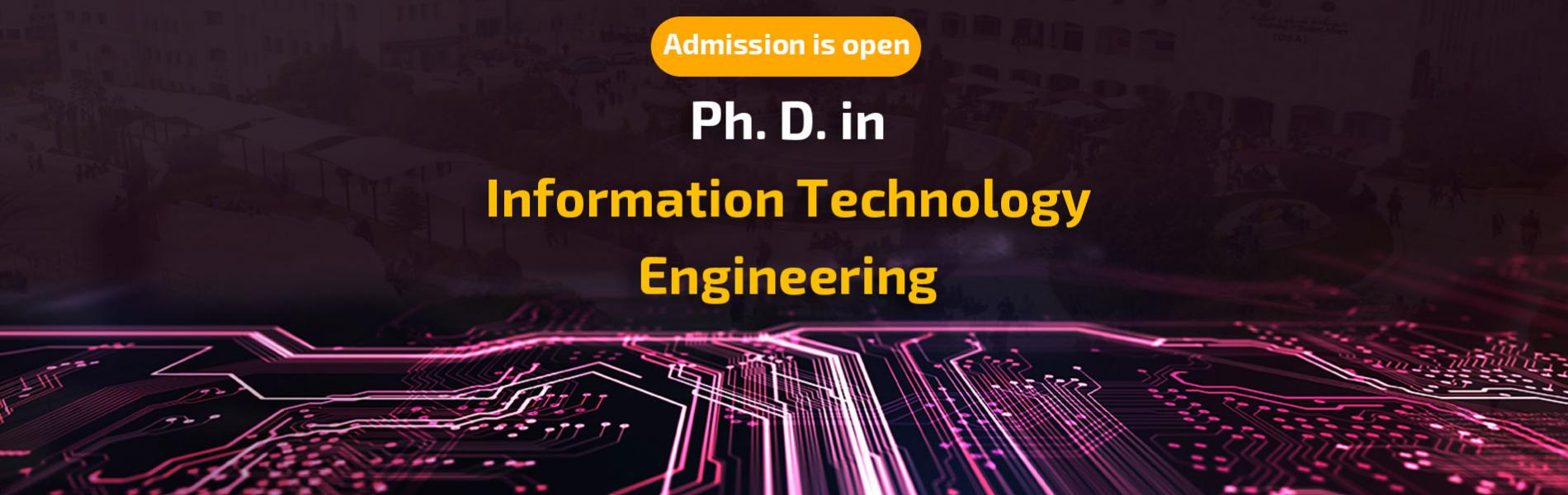 Start Accepting Application for Admission to the Ph.D. in Information Technology Engineering Program for the for Fall Semester of Academic Year 2020/2021