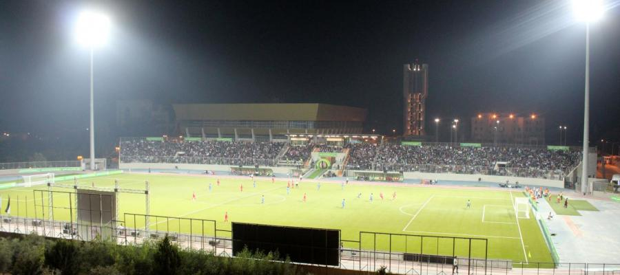 From the match at the Arab American University International Stadium